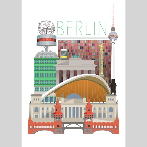 Poster artwork with the title 'Berlin poster'