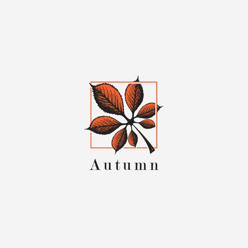 Autumn design with the title 'Autumn'