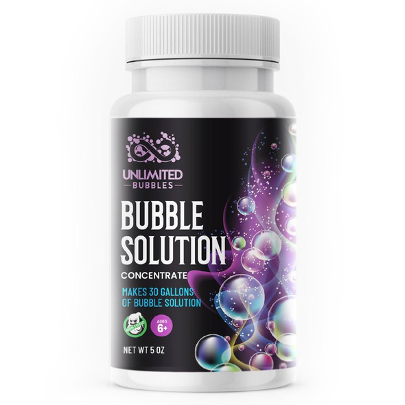 Label with the title 'Bubble label'
