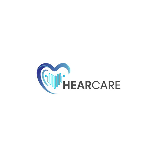 Ear logo with the title 'HearCare'