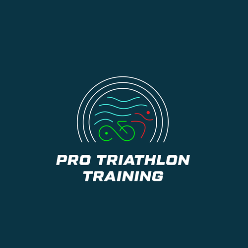 Swim design with the title 'Unused modern Logo approach for Triathlon'