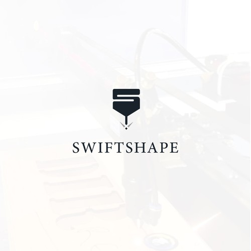Laser logo with the title 'Cutter shape logo for Swiftshape'