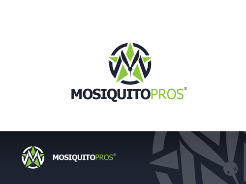 Polaris logo with the title 'create a logo that brands Misquito Pros'