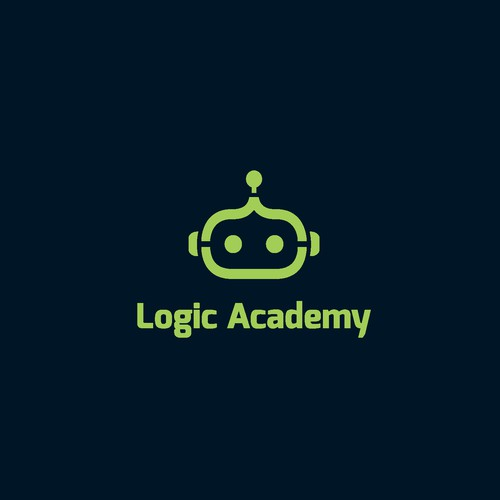 Robot logo with the title 'Logo design for Logic Academy that provides after-school and holiday courses to young people interested in programming and robotics. '
