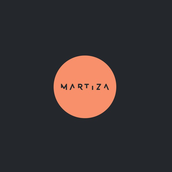 Typography brand with the title 'Martiza'