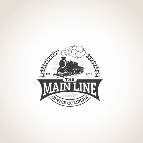 Railway design with the title 'Create a bold classic logo for The Main Line Office Complex'