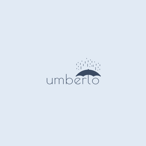 Umbrella design with the title 'simple logo proposal for umberlo'