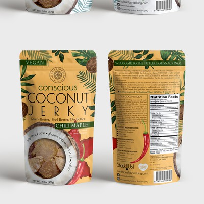Create Unique & Elegant Product Packaging for Vegan Snack Food Comapny