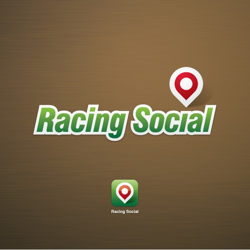 ICO design with the title 'Racing Social logo'