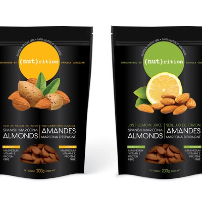 Standup pouch for almonds and cashews