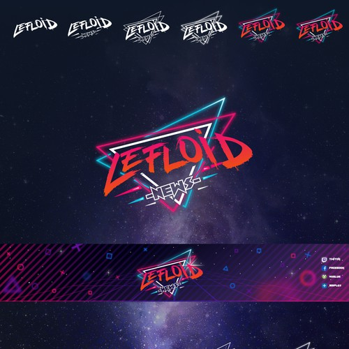 80s design with the title 'LEFLOID logo'