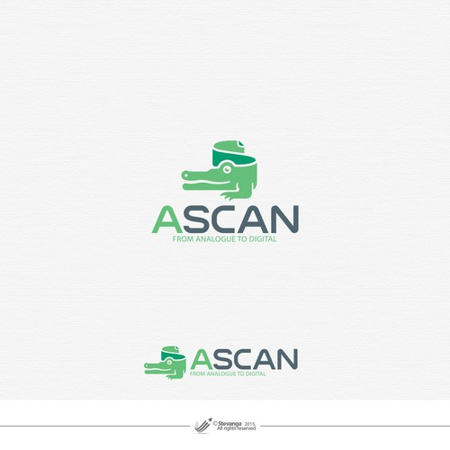 Document design with the title 'Ascan'