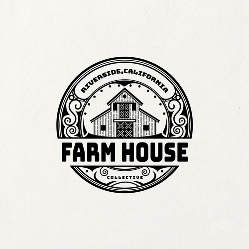 Village logo with the title 'Farm House'