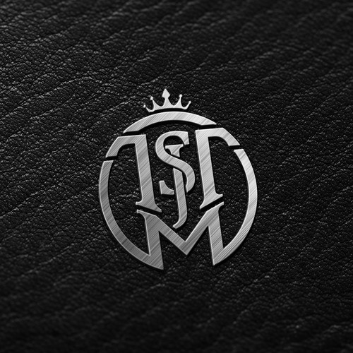 Royal logo with the title 'Family crest logo TSMJT letters'
