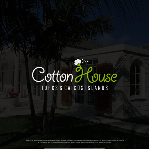 Smooth design with the title 'Text type logo for Cotton House'