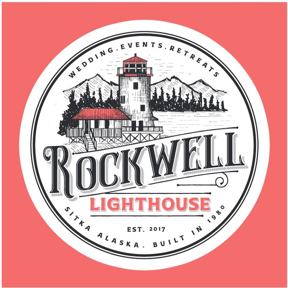 Vacation rental logo with the title 'Logo for Rockwell Lighthouse'