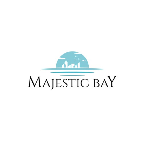 "Majestic design with the title 'Majestic Bay...The ""Just Right"" place to live.'"