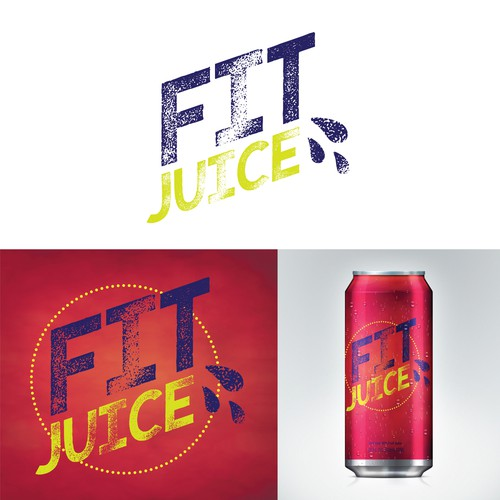 Energy drink logo with the title 'Power logo for fitness drink company'