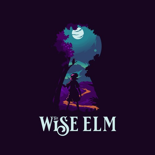 Media design with the title 'The Wise Elm'