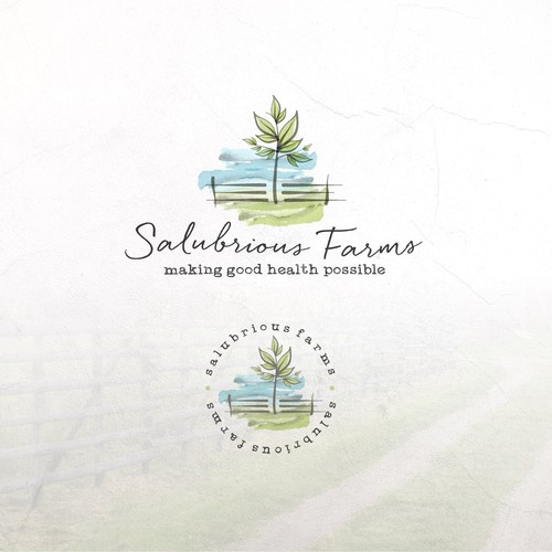 Organic brand with the title 'Logo Concept For Salubrious Farms'