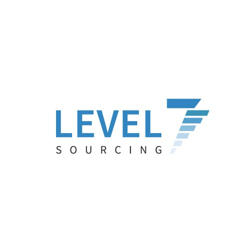 Level design with the title 'Logo for Level 7 Sourcing'