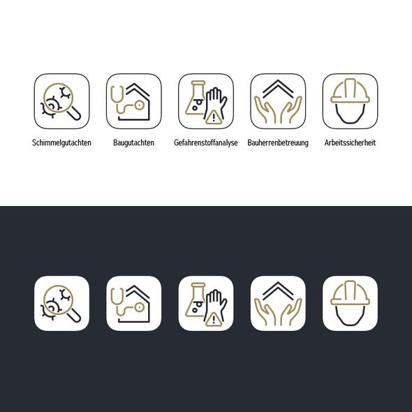 """Danger design with the title 'Icon Design for """"Sachverständigen Webseite""""'"""