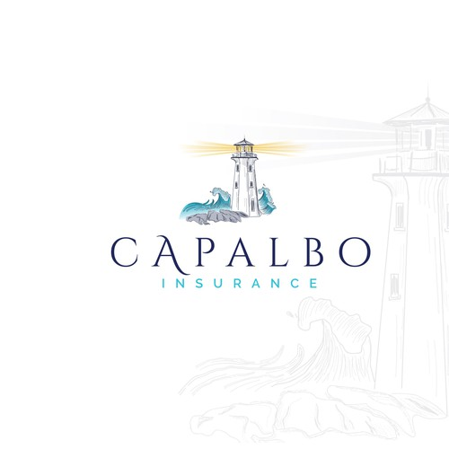 Insurance logo with the title 'Capalbo Insurance logo - Unique spin for an old conservative industry'