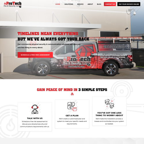 CCTV design with the title 'Home page design for Security company'