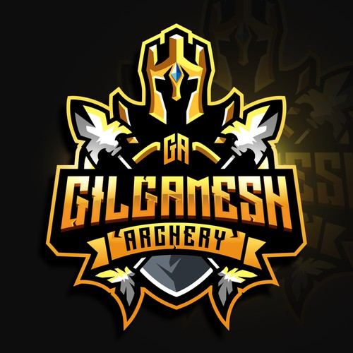 Yellow logo with the title 'Gilgamesh Archery'