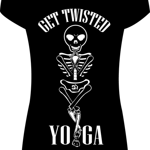 Yoga t-shirt with the title 'YOGA Get Twisted For Halloween'