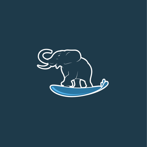 Big logo with the title 'Surfing Elephant '