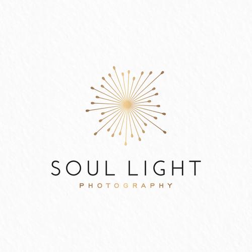 Headshot logo with the title 'Soul light logo'