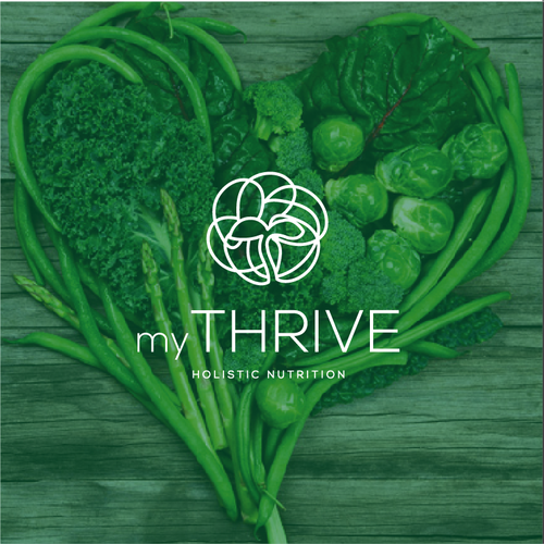 T logo with the title 'myThrive'