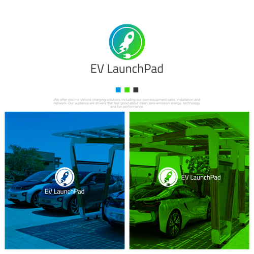 Plug design with the title 'Logo Concept for EV LaunchPad'