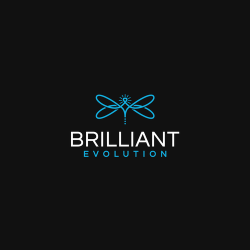 Clear logo with the title 'Bold logo concept for Brilliant Evolution'