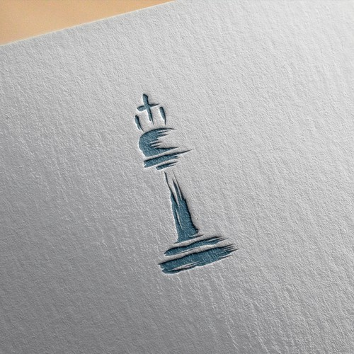 Chess design with the title 'Chesspiece Logo for Investment Bank'