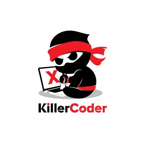 Web development logo with the title 'Unique Logo for Coder or web developer'