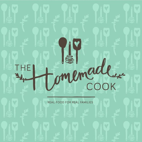 Organic logo with the title 'Handdrawn logo for a cook'