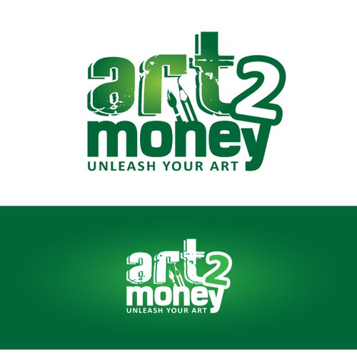 Paintbrush logo with the title 'Art 2 Money'
