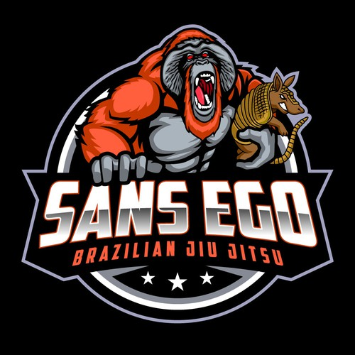 Martial arts design with the title 'SANS EGO'