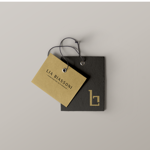 Premium logo with the title 'logo for a Lia Biassoni - leather handbags brand -  Made in Italy'
