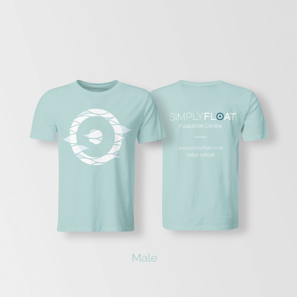 Floating design with the title 'T Shirt design for SimplyFloat'