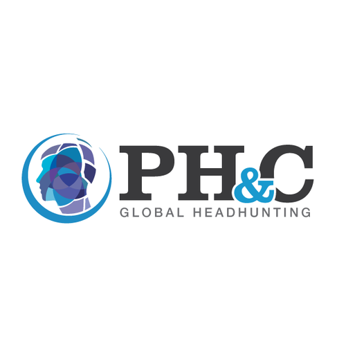 Brain design with the title 'Logo for a Headhunting global firm'