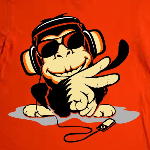 Monkey t-shirt with the title 'monkey design'