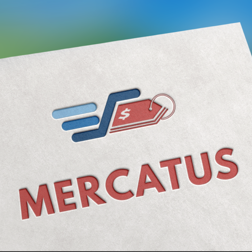 "Cart logo with the title 'Logo concept for ""mercatus""'"