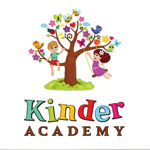 Bright design with the title 'Kinder Academy needs YOU !!'