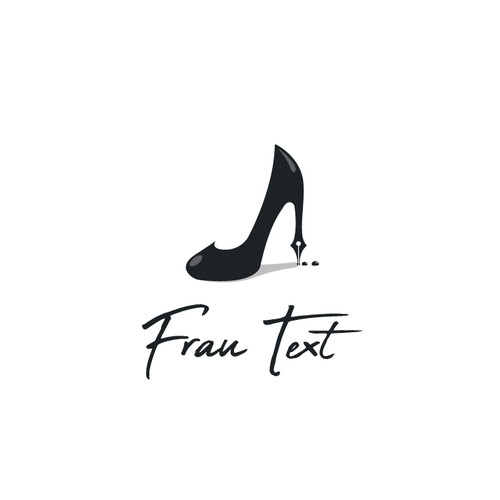 Writer logo with the title 'Frau Text (Woman text)'