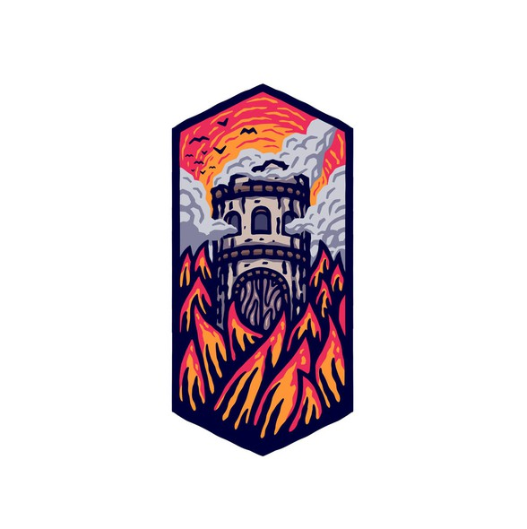 Tower logo with the title 'Burning Tower Studio'