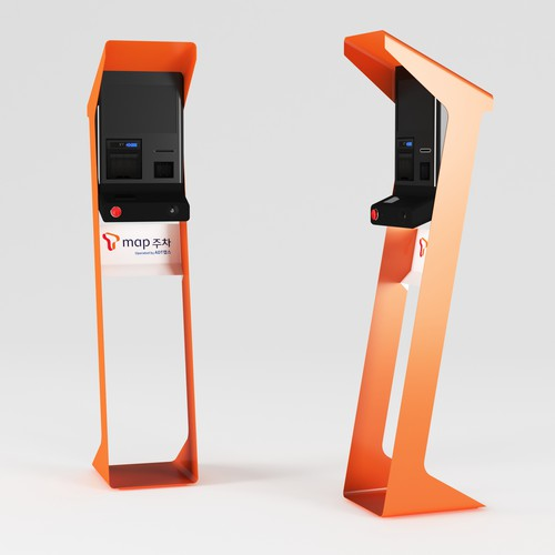 Kiosk design with the title 'parking kiosk'