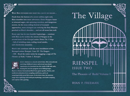 Gate design with the title 'Cover for Rienspel Issue Two'